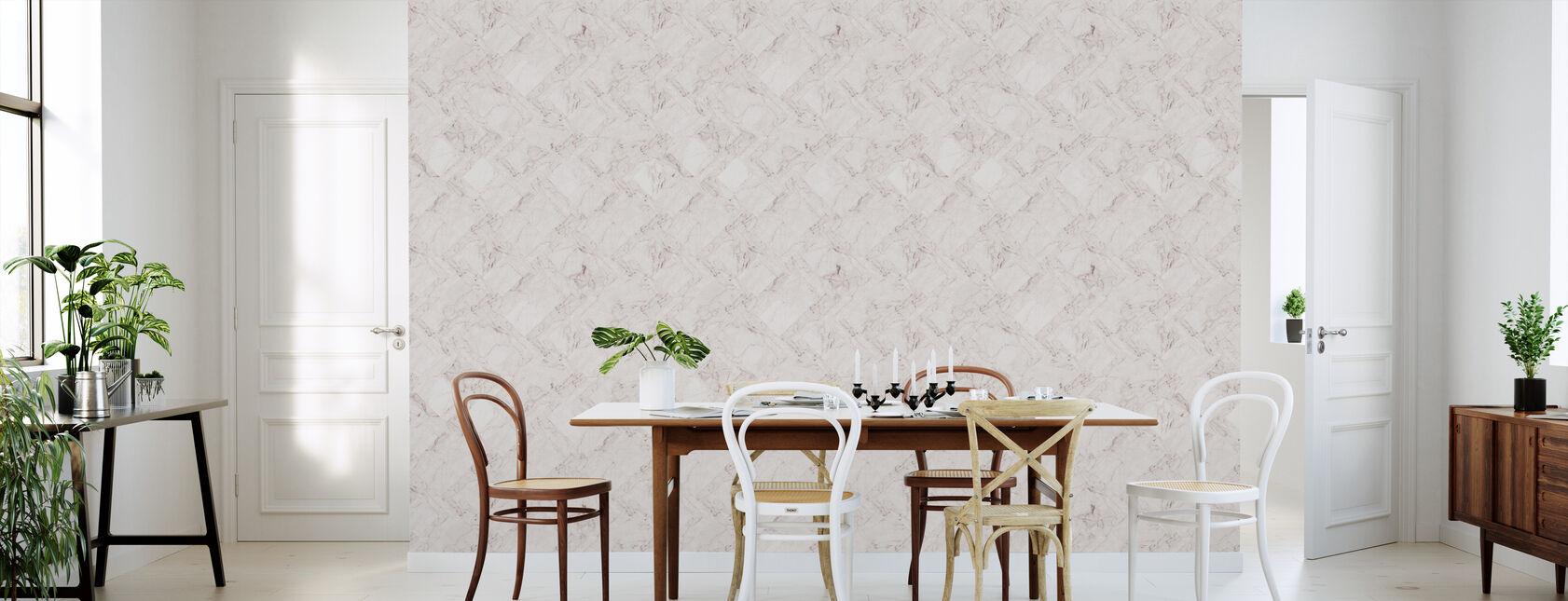 Marble Tiles - Pink - Wallpaper - Kitchen