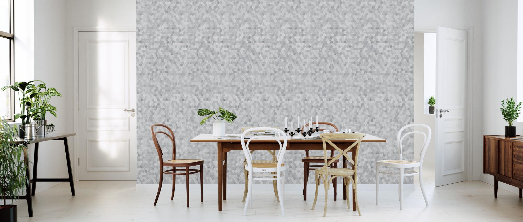 Octagon - Grey - Wallpaper - Kitchen