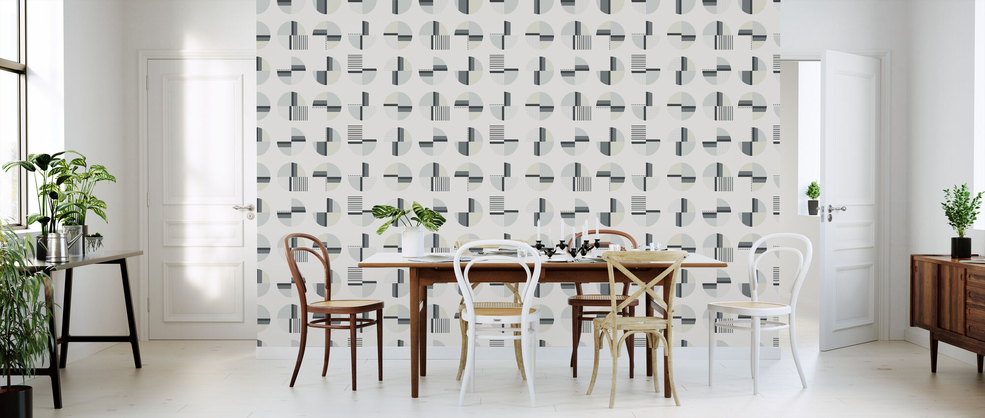 Tribe - Grey - Wallpaper - Kitchen