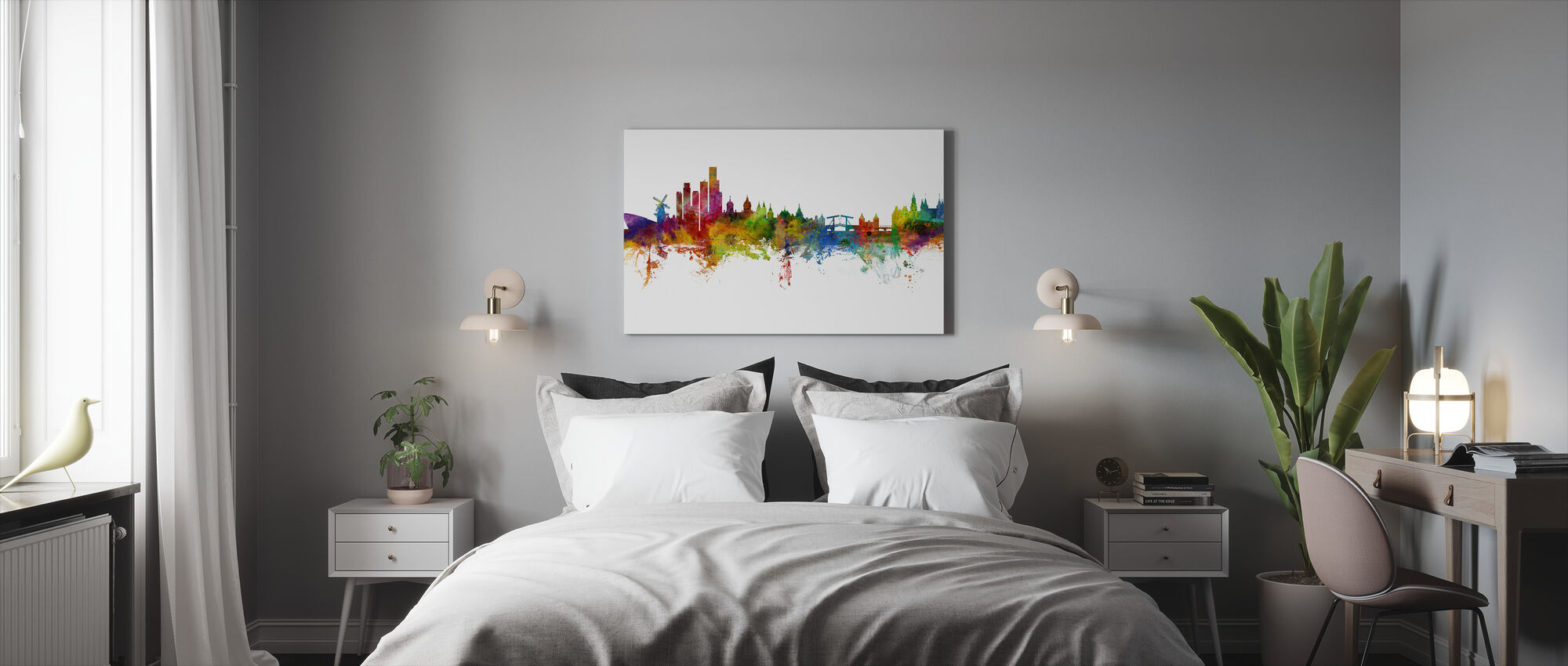 Amsterdam Skyline windmill - Canvas print - Bedroom
