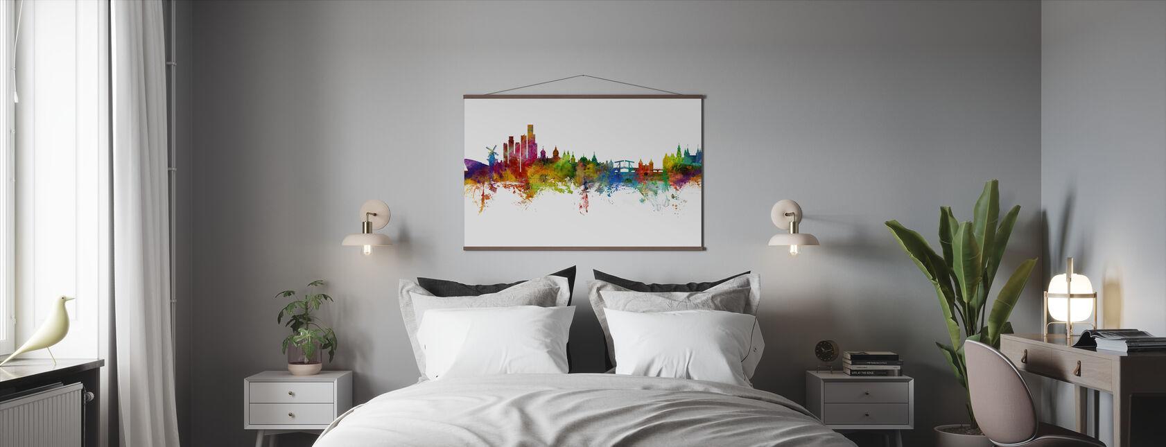 Amsterdamse Skyline windmolen - Poster - Slaapkamer