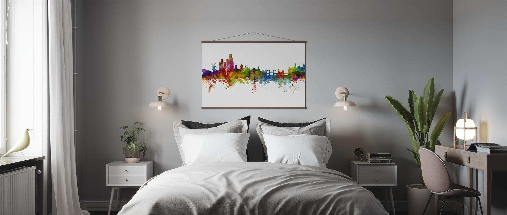 Amsterdam Skyline windmill - Poster - Bedroom
