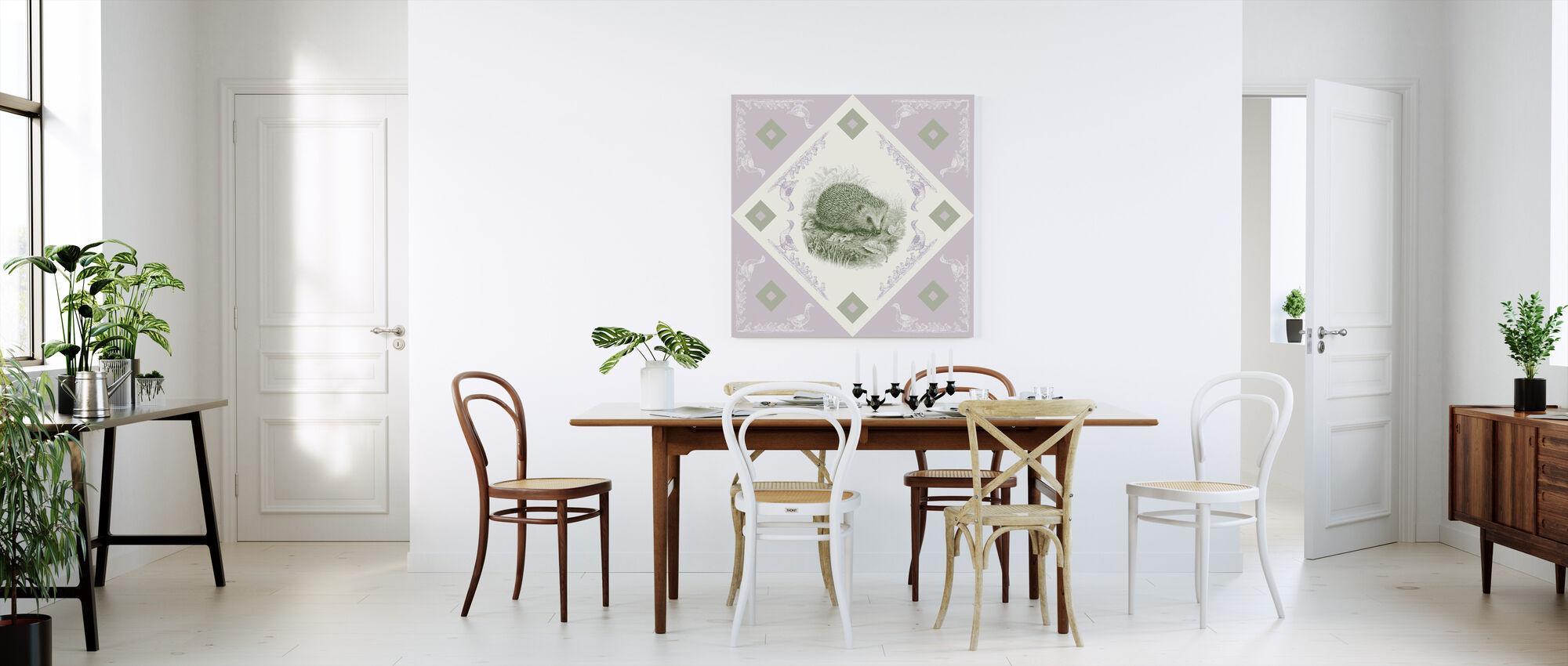 Egel, Groen Paarse - Canvas print - Keuken