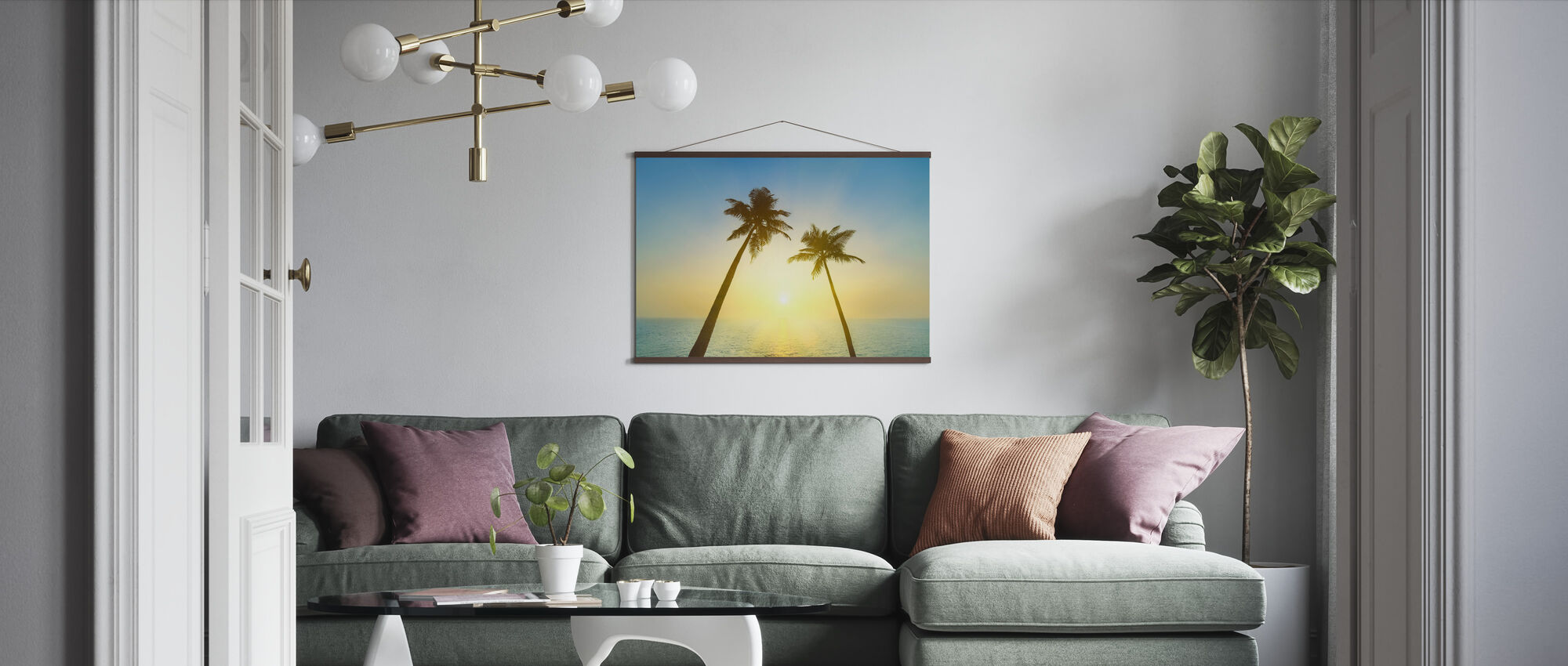 Goa Beach Sunset - Poster - Living Room