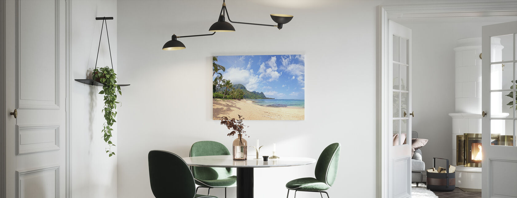Hawaiiaanse Beach Pit - Canvas print - Keuken