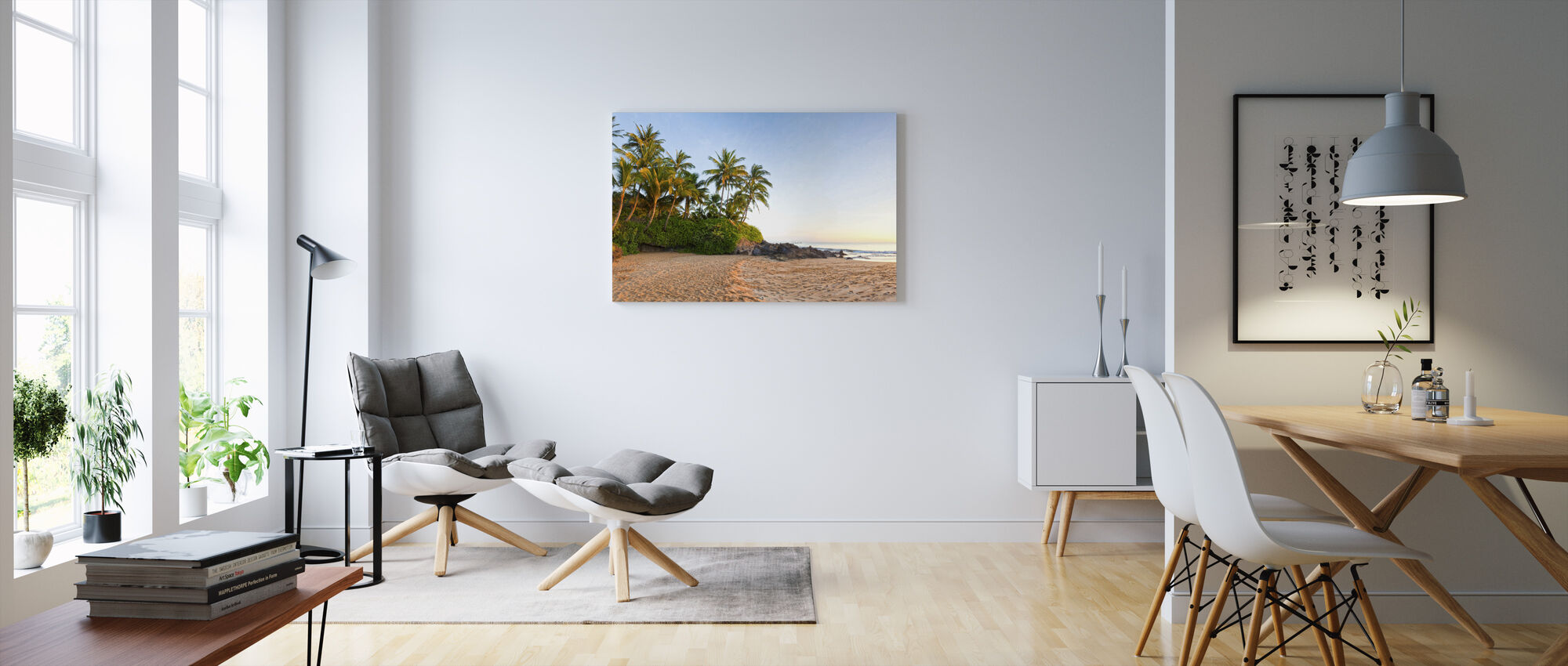 Sunset Beach - Canvas print - Living Room