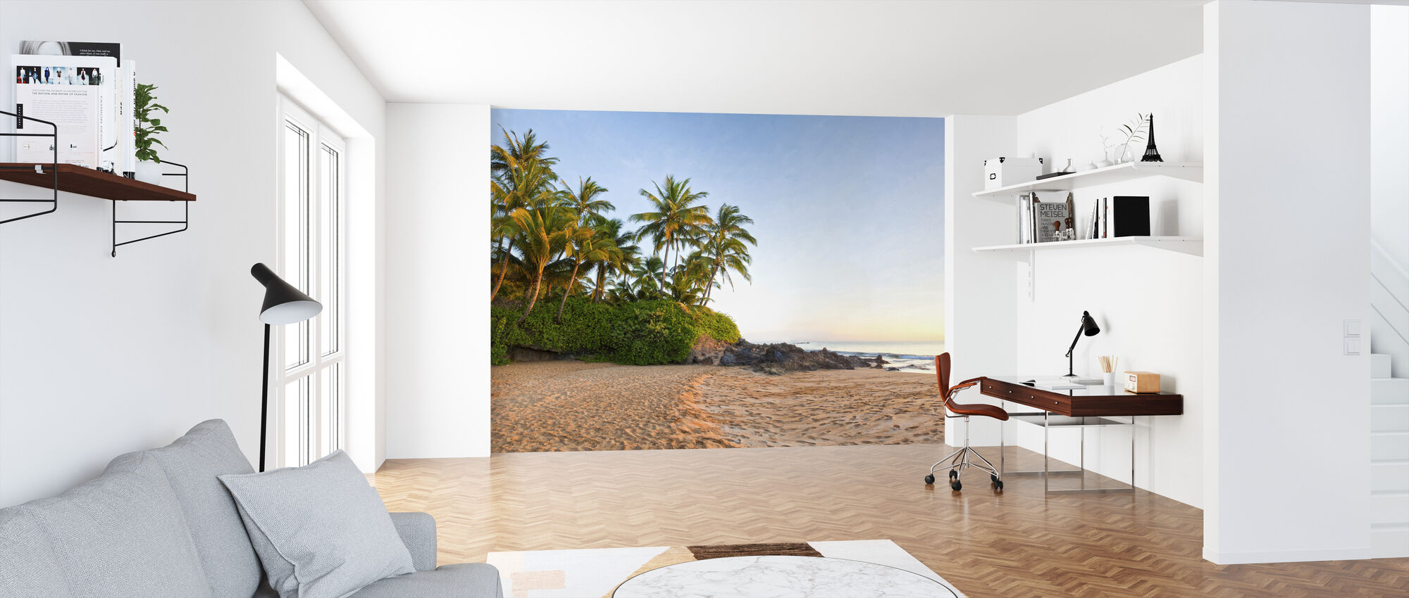 Sunset Beach - Wallpaper - Office