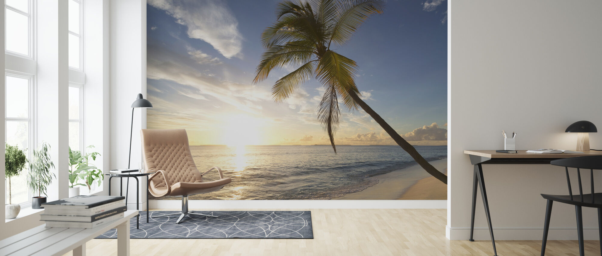 Tropical Sunset - Wallpaper - Living Room