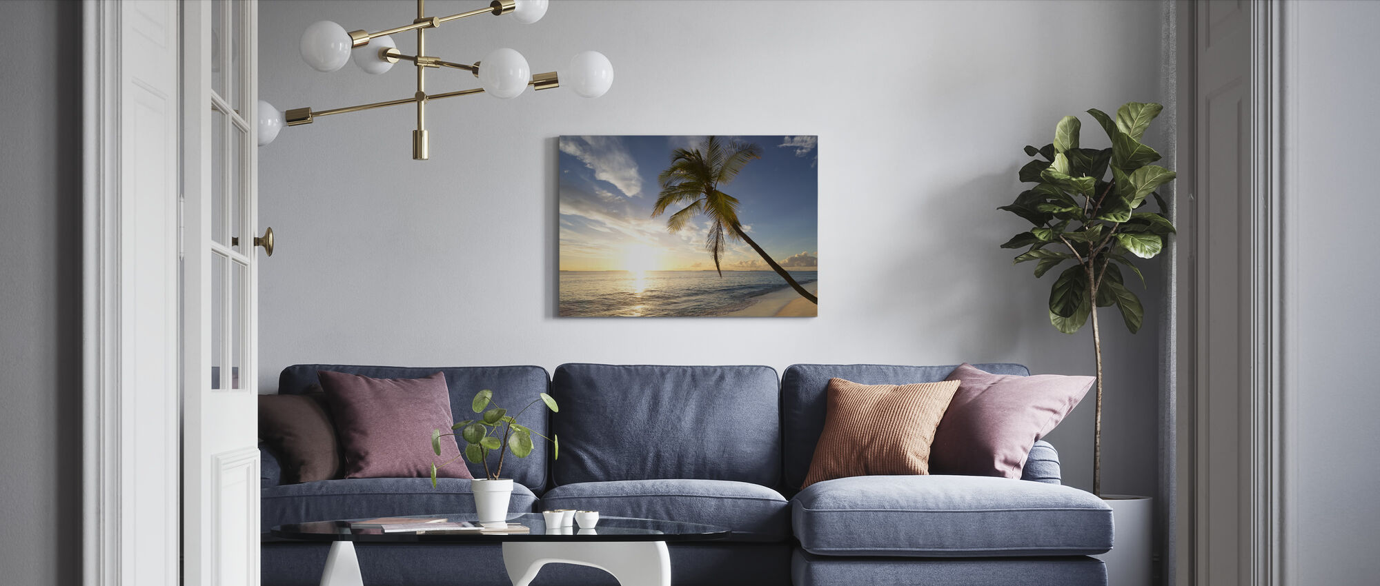 Tropical Sunset - Canvas print - Living Room