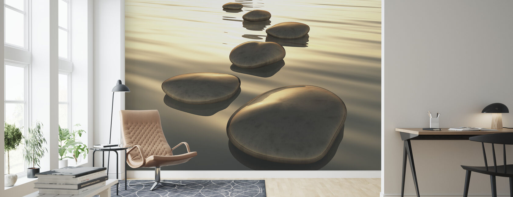 Vector Stones - Wallpaper - Living Room