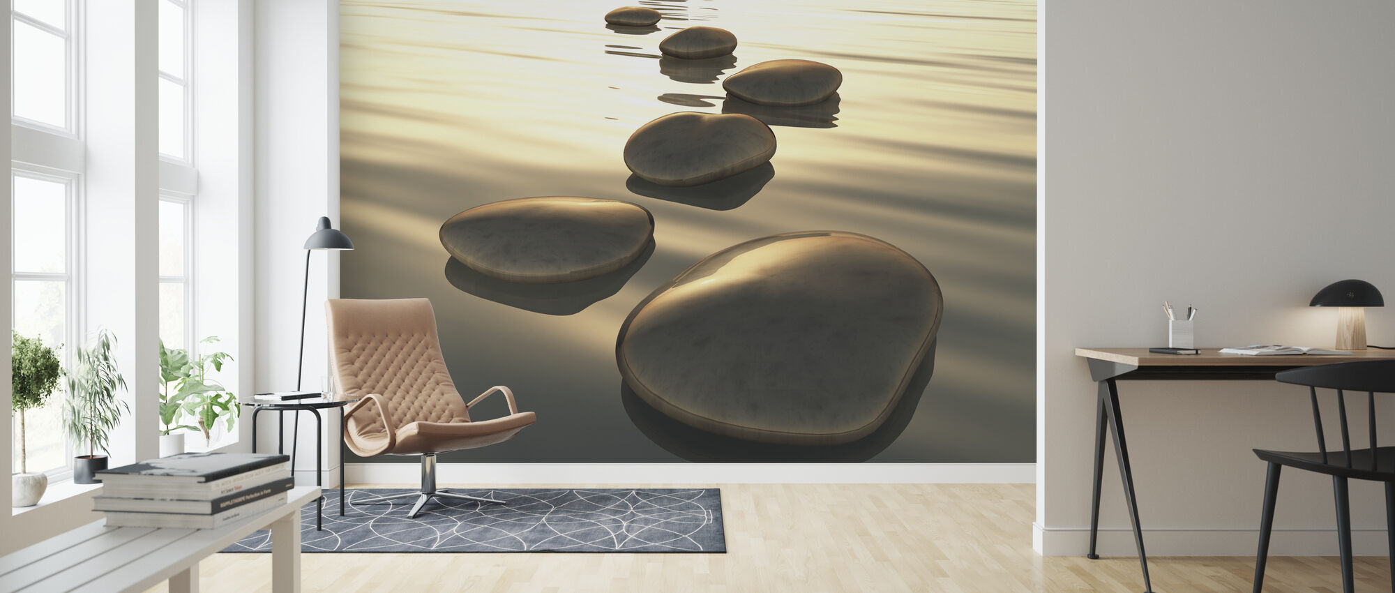 Vector Stones - Wallpaper - Living Room