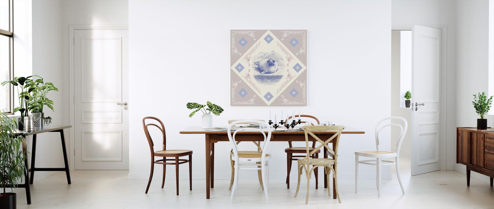 Seal, Blue Pink - Canvas print - Kitchen