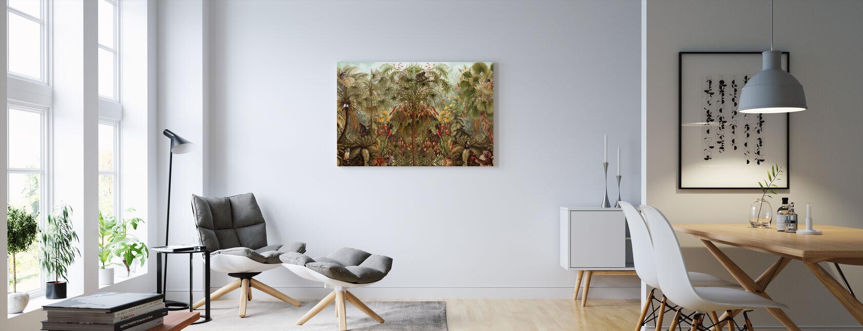 Monkey See Monkey Wah - Canvas print - Living Room