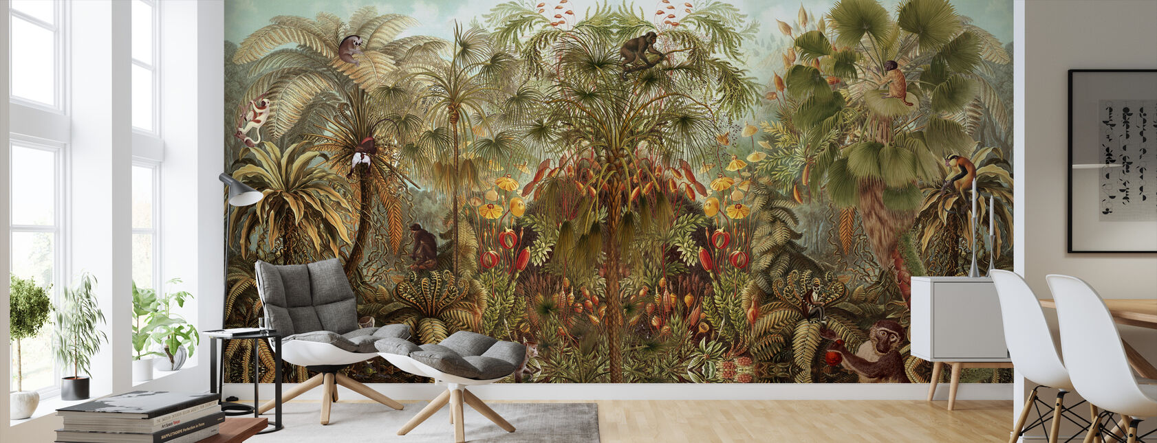Monkey See Monkey Wah - Wallpaper - Living Room