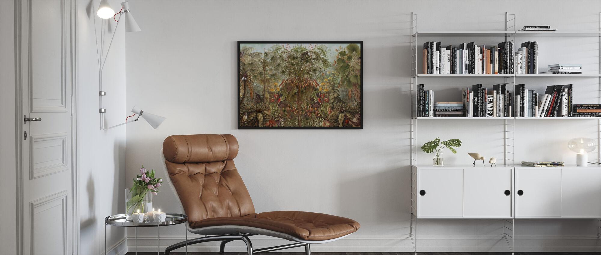 Monkey See Monkey Wah - Framed print - Living Room