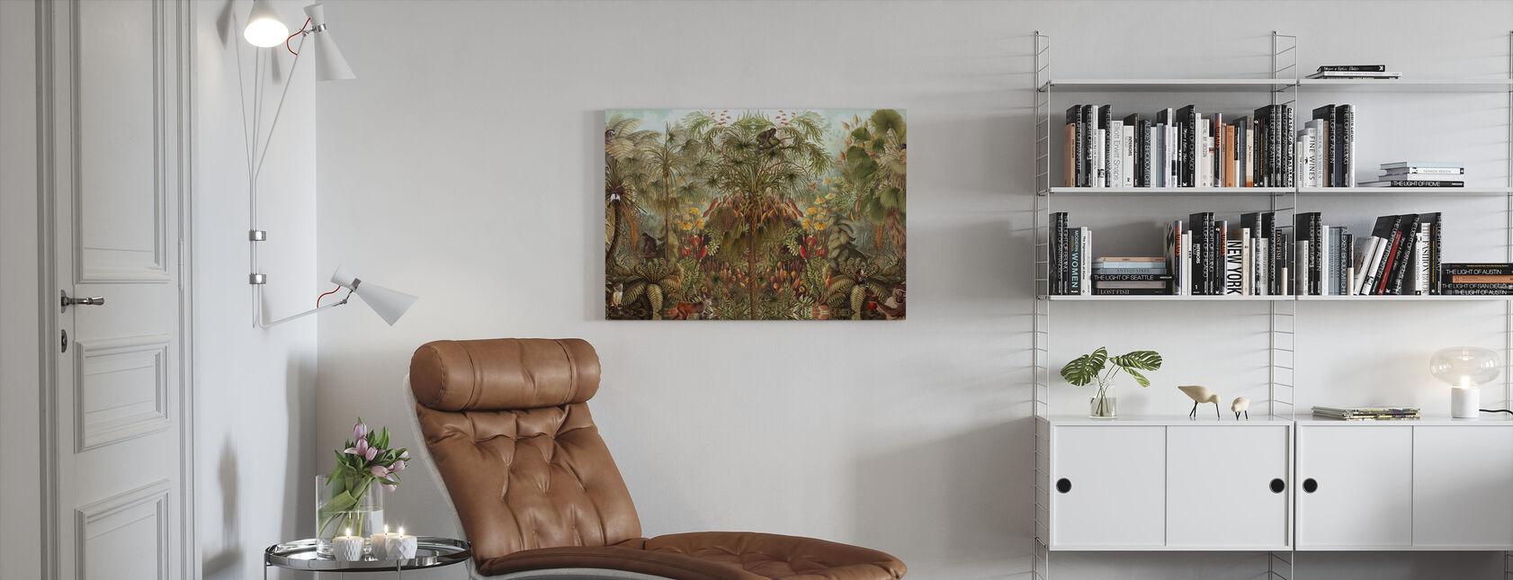 Apina Katso apina Wah - Canvastaulu - Olohuone