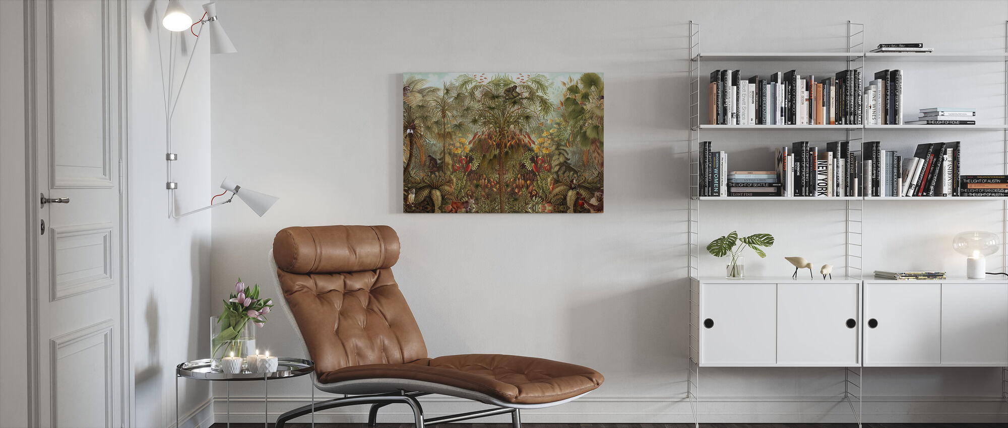 Monkey See Monkey Wah - Canvas print - Living Room