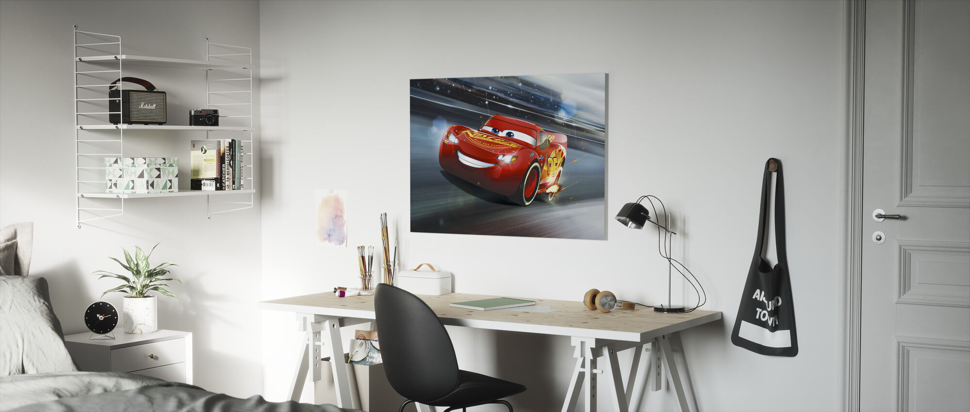 Autot 3 - Salama McQueen - Raidan legenda - Canvastaulu - Lastenhuone