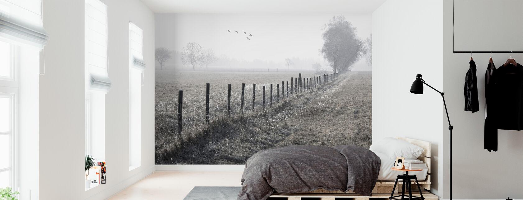 Sumuinen aamu - Tapetti - Makuuhuone