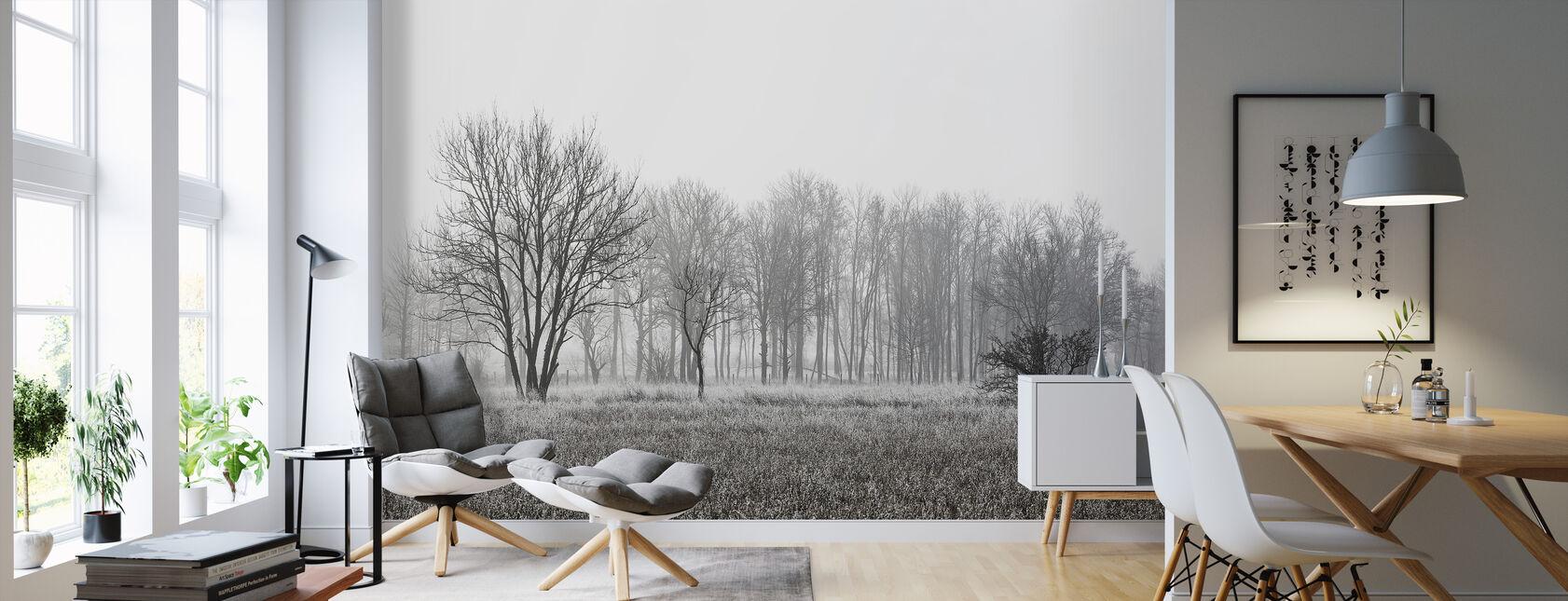 Frosty Morning, black and white - Wallpaper - Living Room