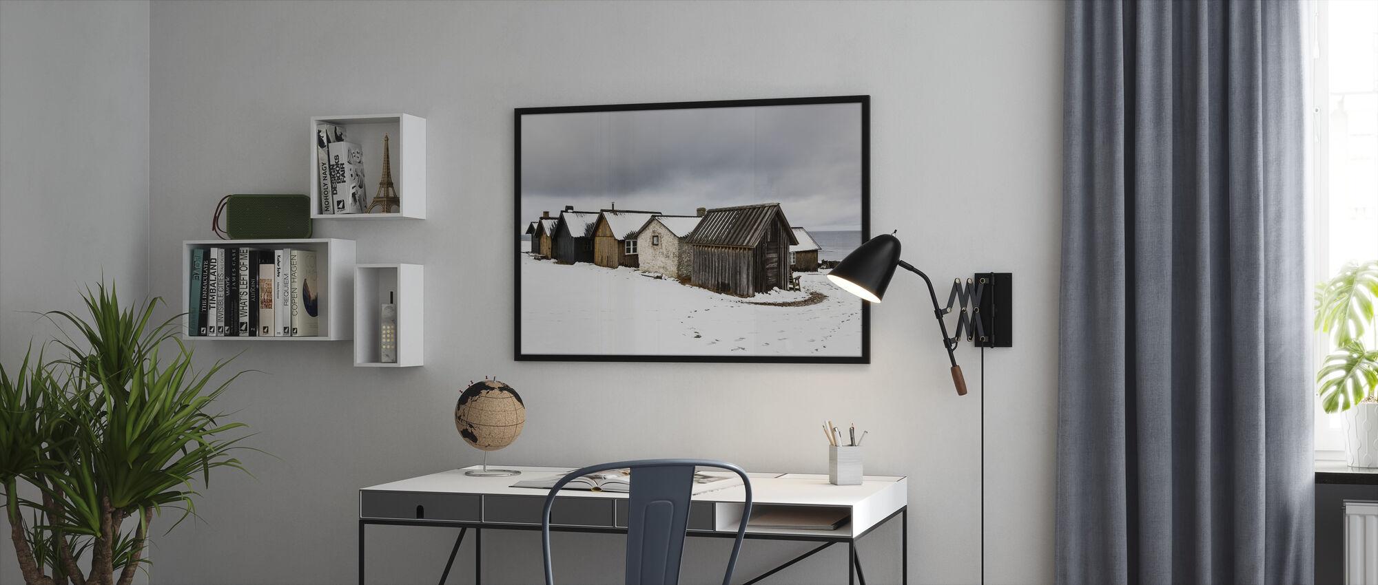 Helgumannens Fishing Village - Framed print - Office