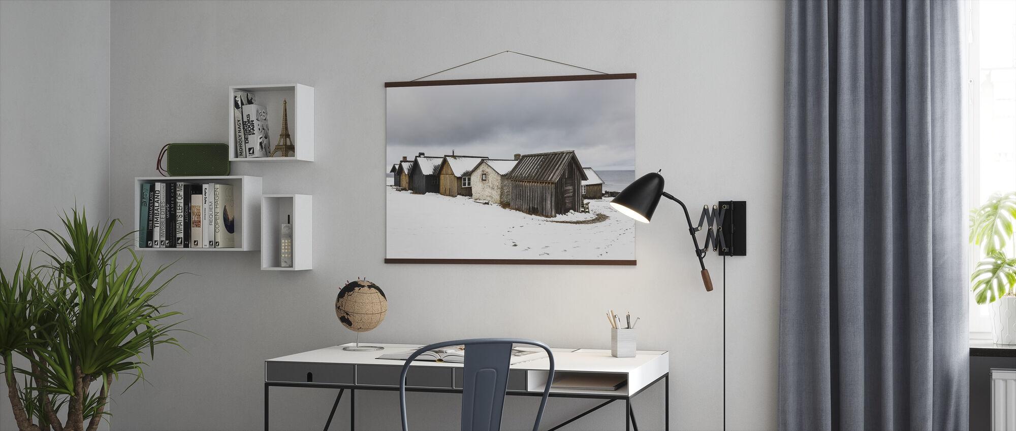 Helgumannens Fishing Village - Poster - Office