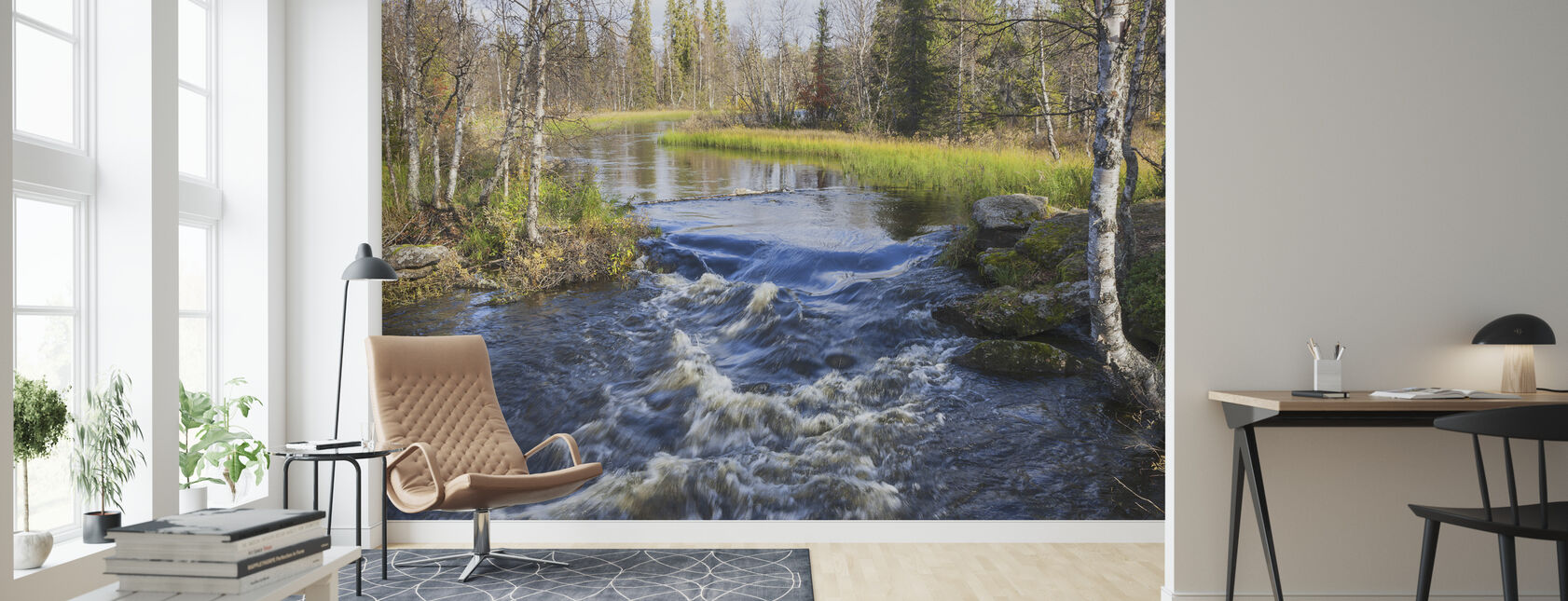Lapland River - Wallpaper - Living Room