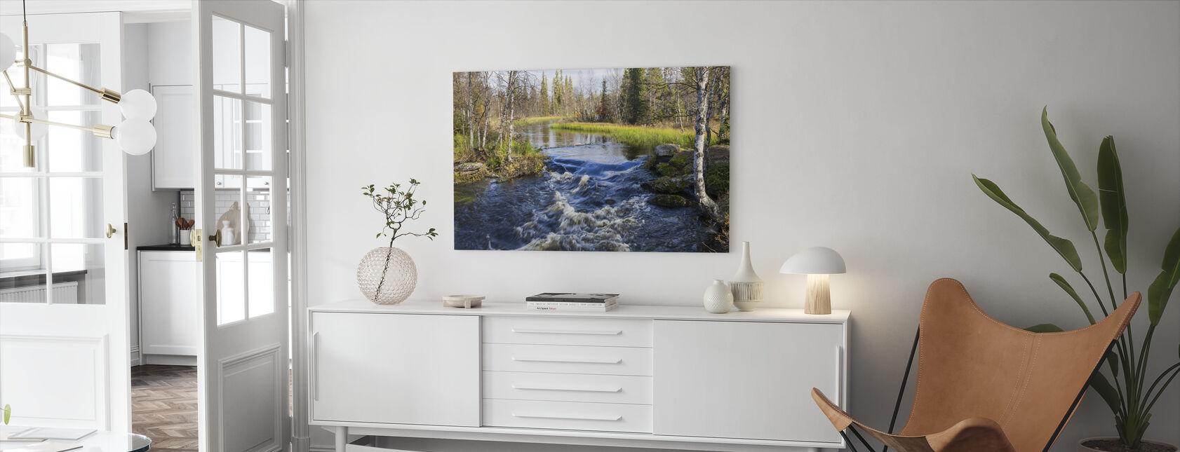 Lapland-floden - Billede på lærred - Stue