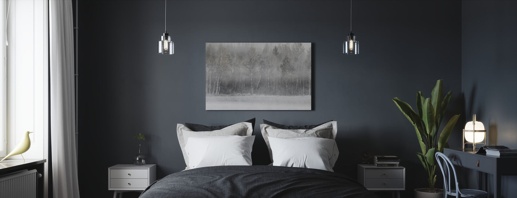 Mysterie bomen - Canvas print - Slaapkamer