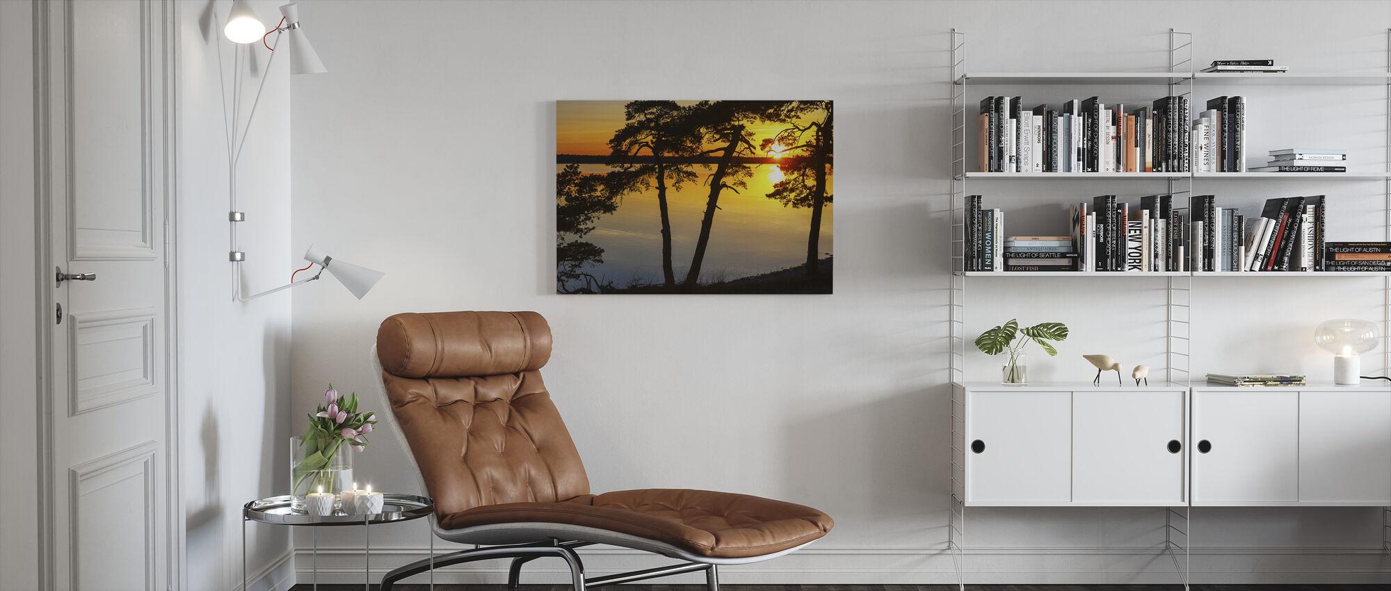 Sunset the Baltic Gotland - Canvas print - Living Room