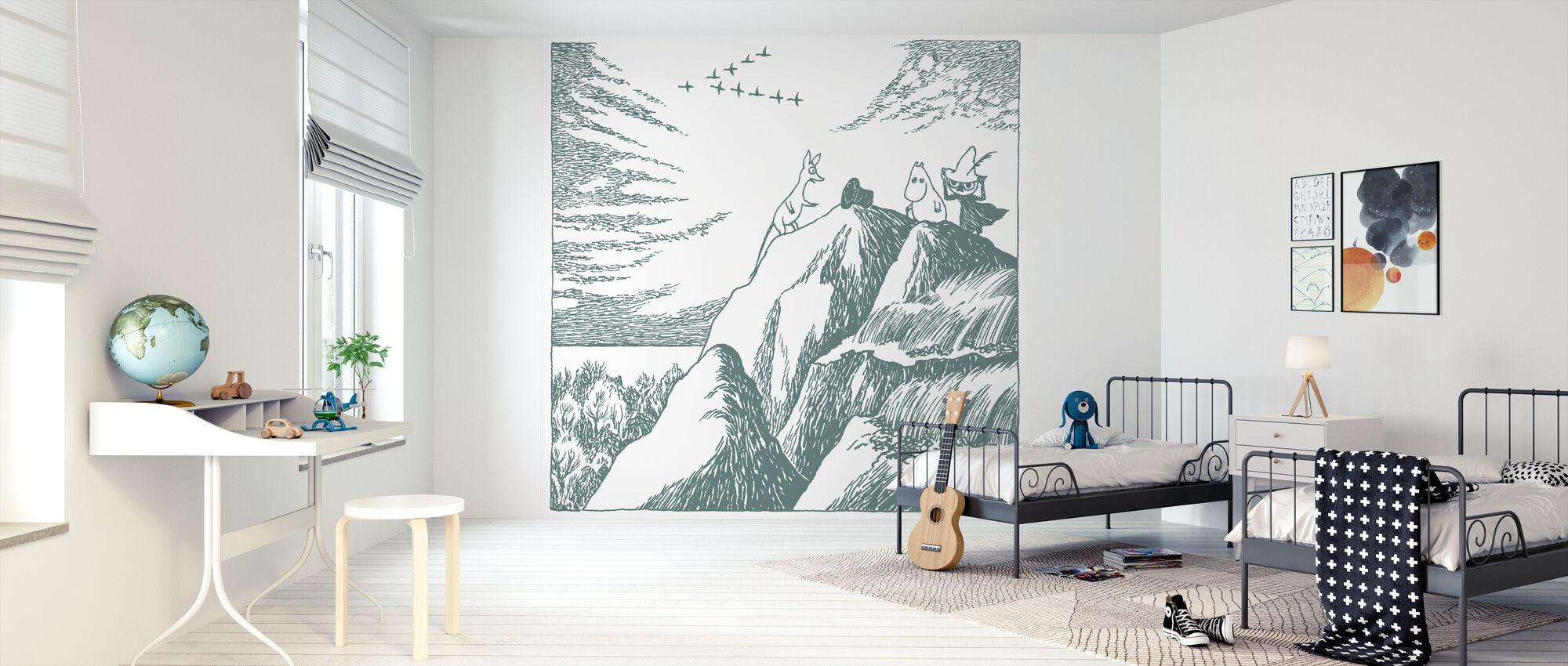 Moomin - Oppdagelsen av Hobgoblins lue — Grønn - Tapet - Barnerom