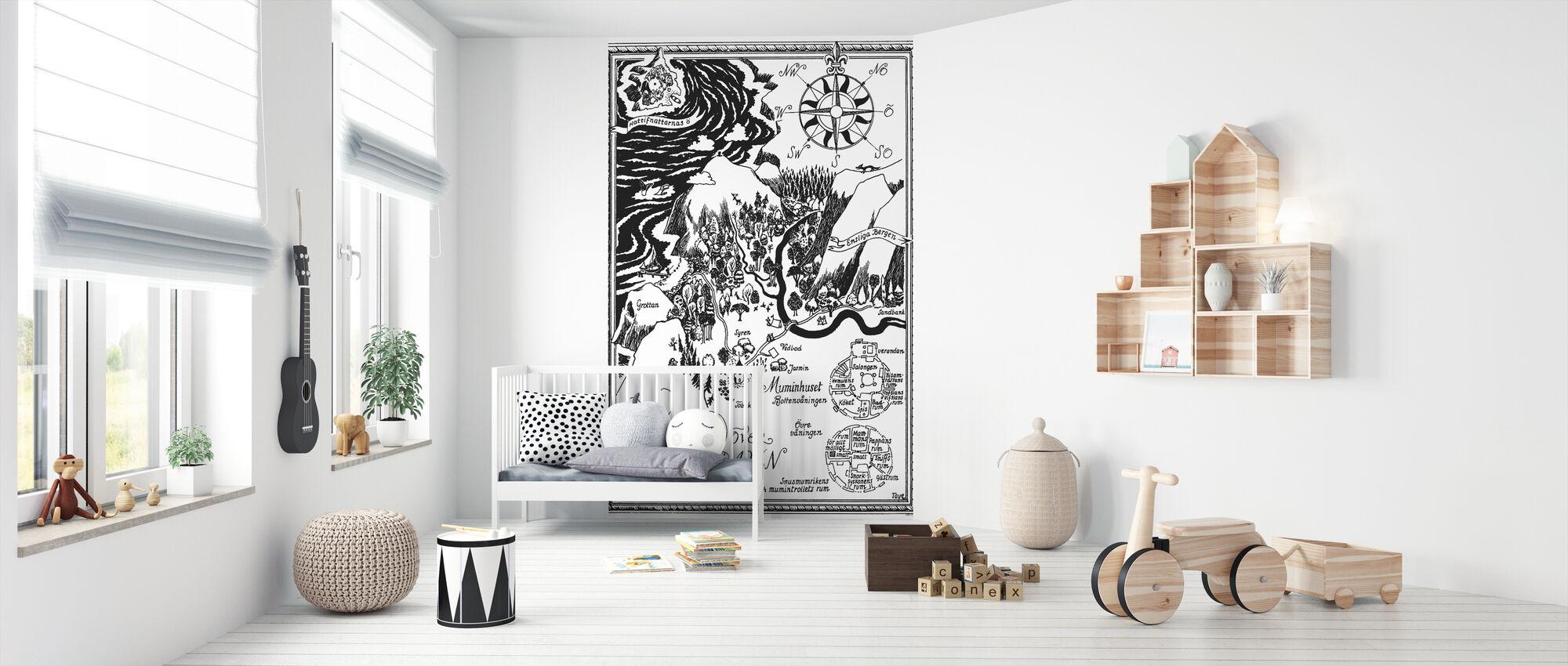 Moomin - Carte sur la vallée de Moomin - Papier peint - Chambre de bébé