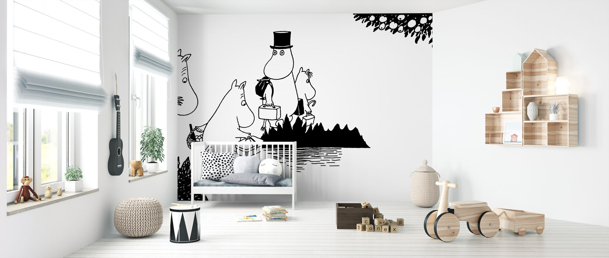 Moomin - Moomin family on Adventure - Wallpaper - Nursery