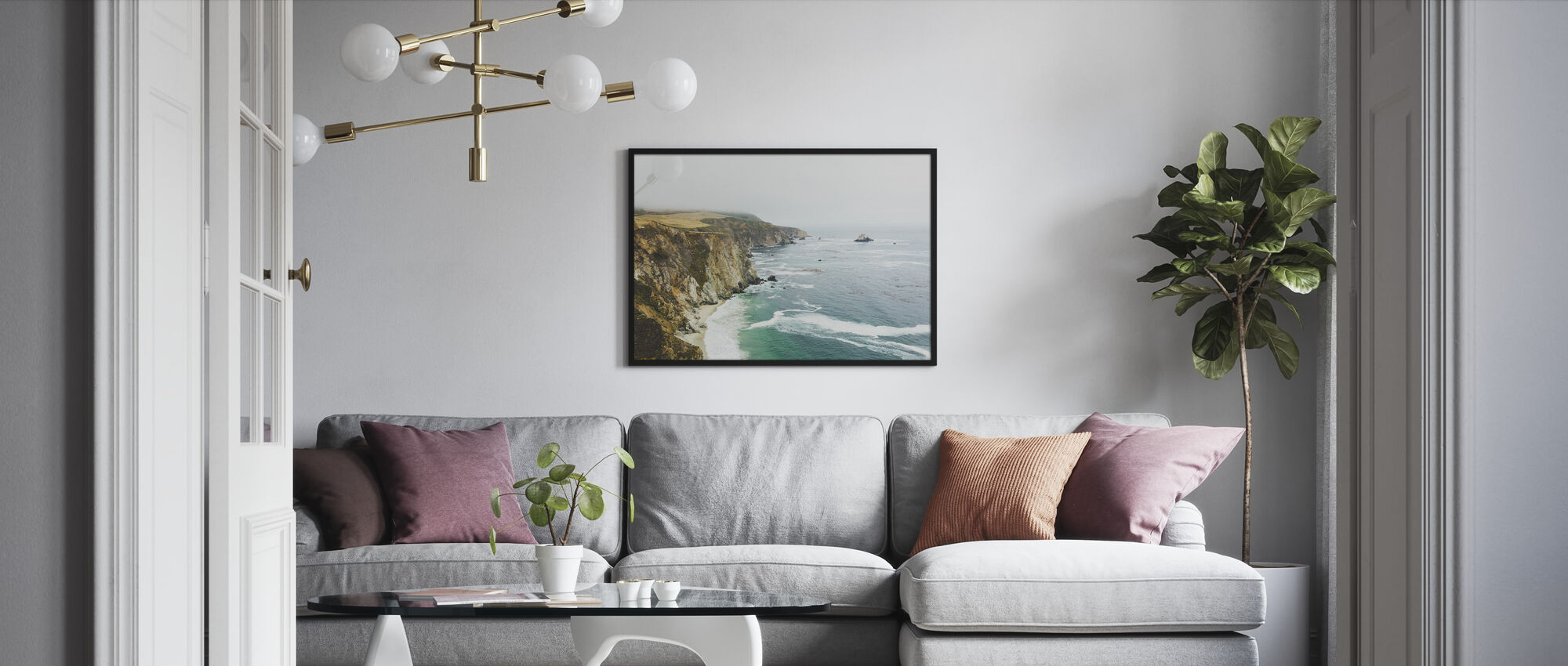 Big Sur, California - Framed print - Living Room