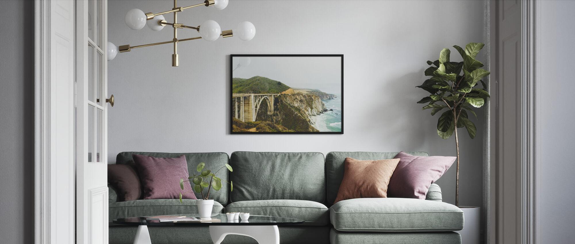 Bixby Creek Bridge, Big Sur California - Framed print - Living Room