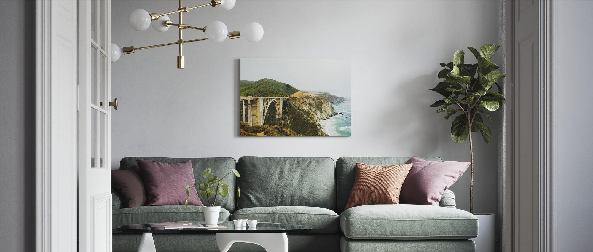 Bixby Creek Bridge, Big Sur California - Canvas print - Living Room