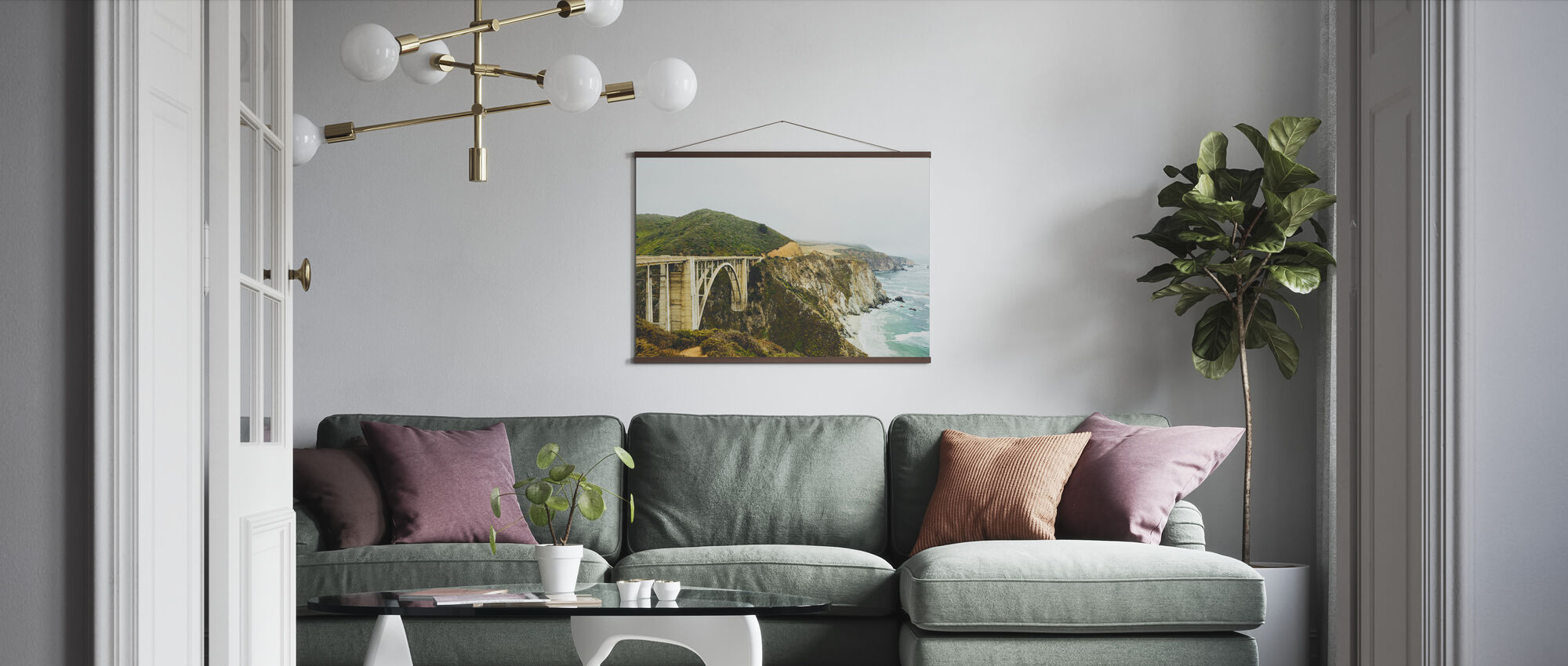 Bixby Creek Bridge, Big Sur Kalifornien - Poster - Wohnzimmer