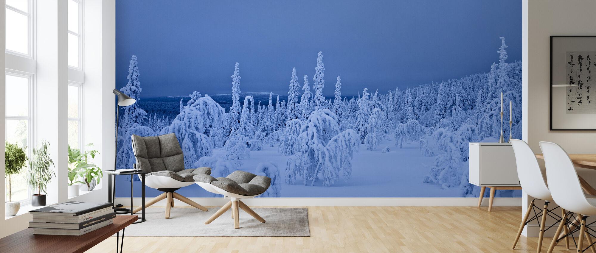 Blå vinter i Lappland, Sverige - Tapet - Stue