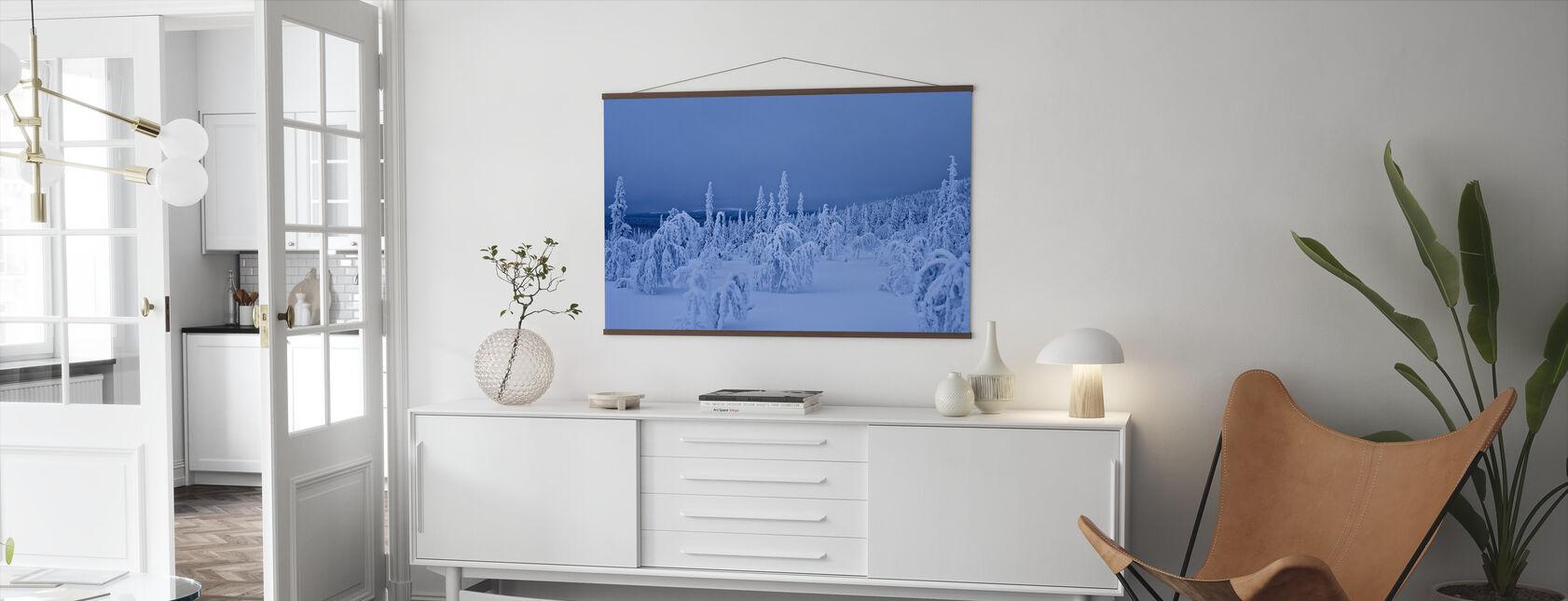 Blue Winter in Lapland, Sweden - Poster - Living Room