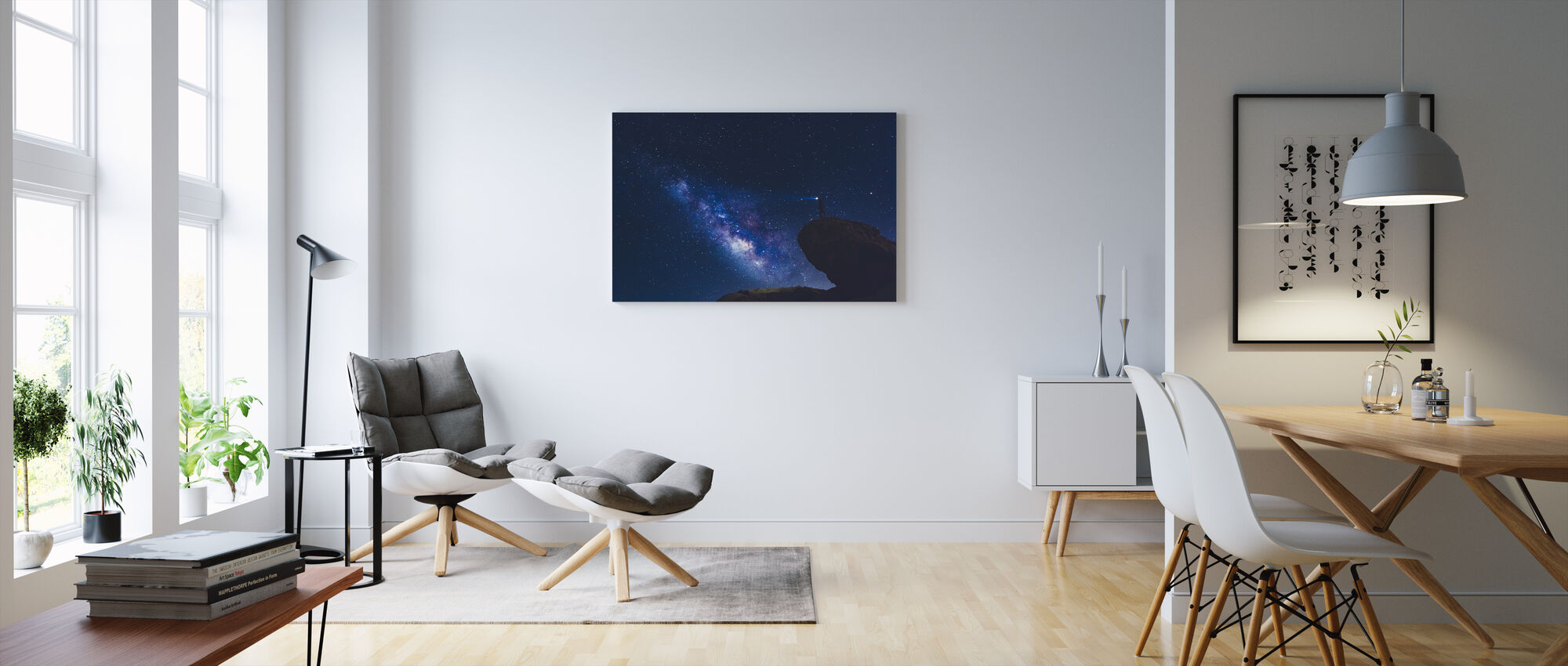 Californian Star Searching - Canvas print - Living Room