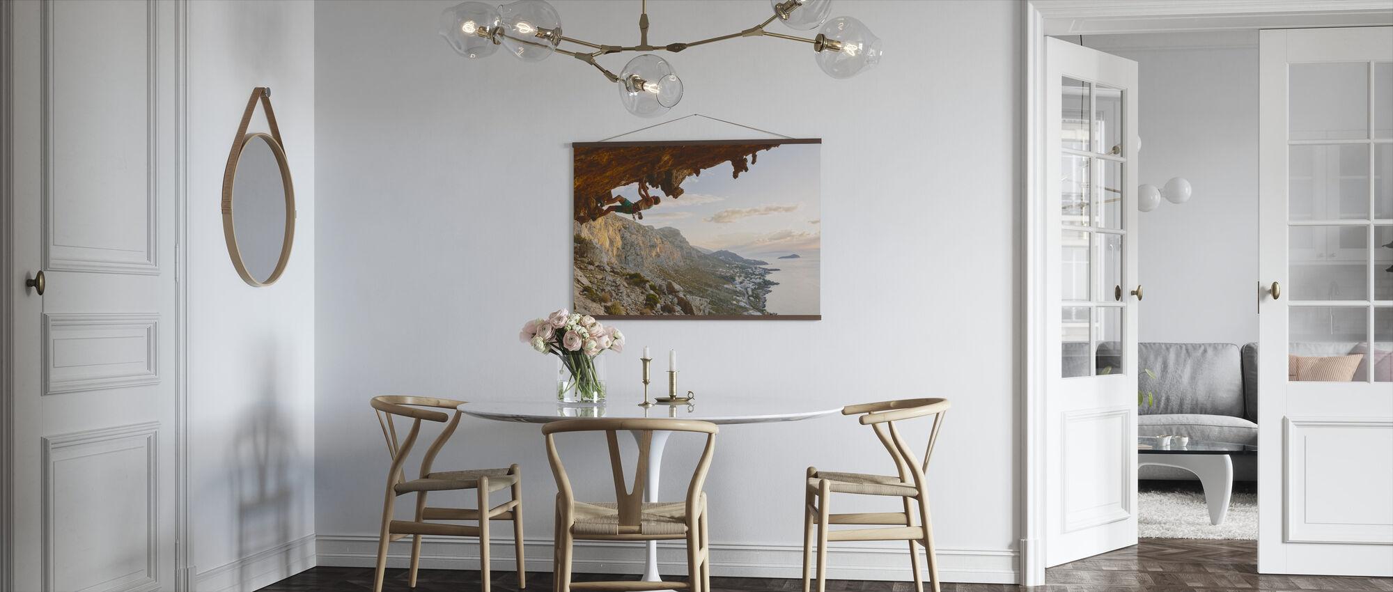 Klimmen aan de Egeïsche Zee - Poster - Keuken