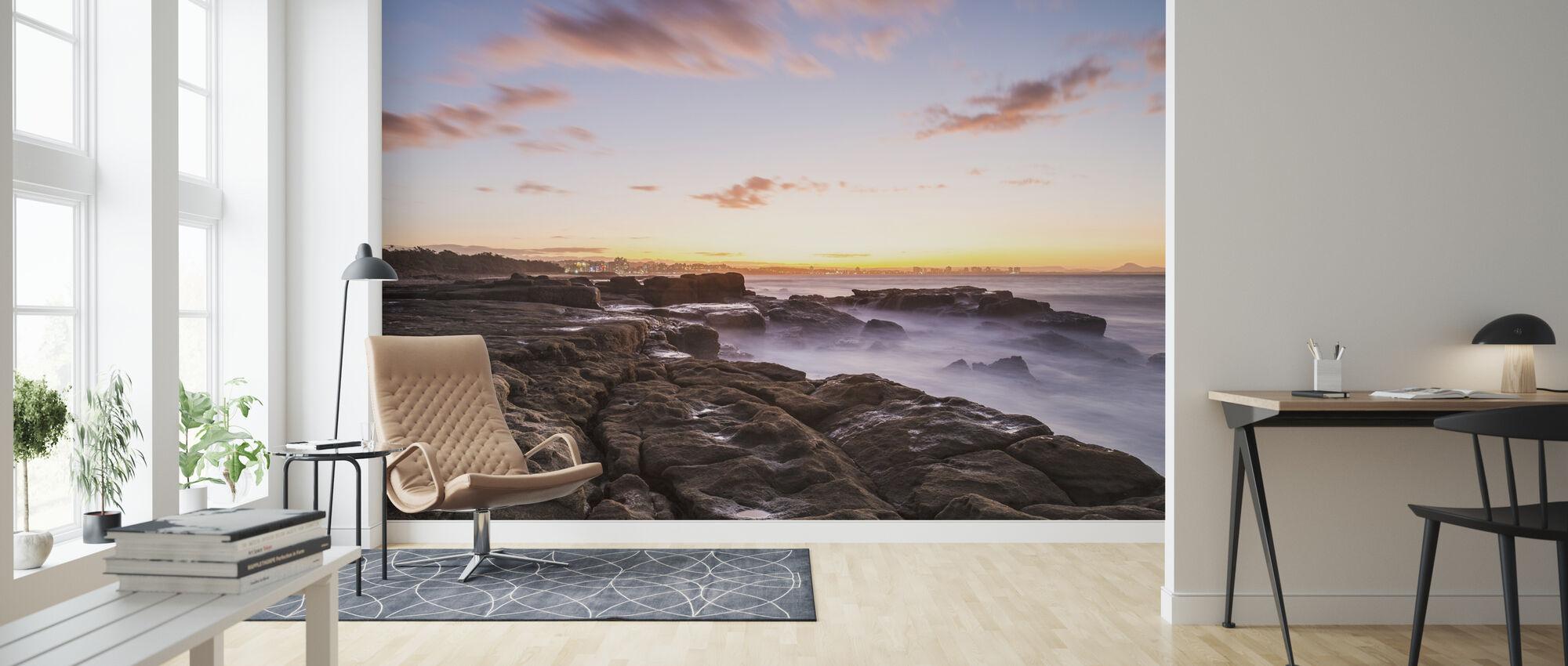 Mooloolaba Cityscape Horizon, Australia - Wallpaper - Living Room