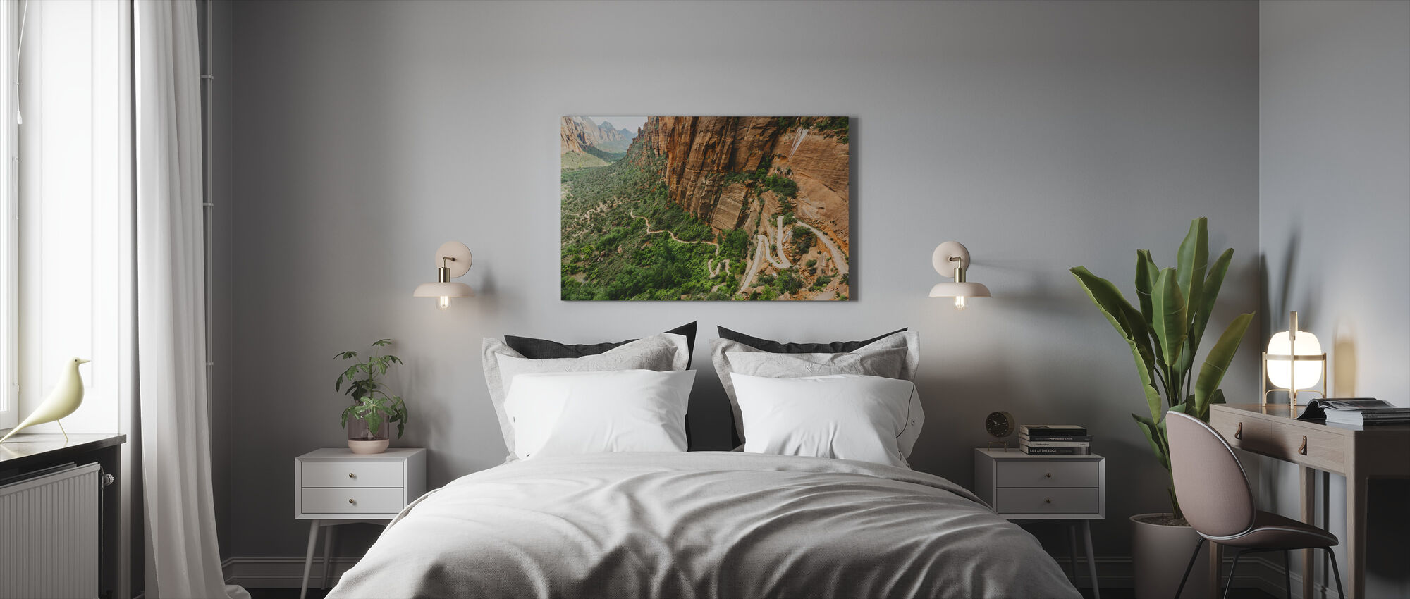 Pathway in Zion National Park, USA - Canvas print - Bedroom
