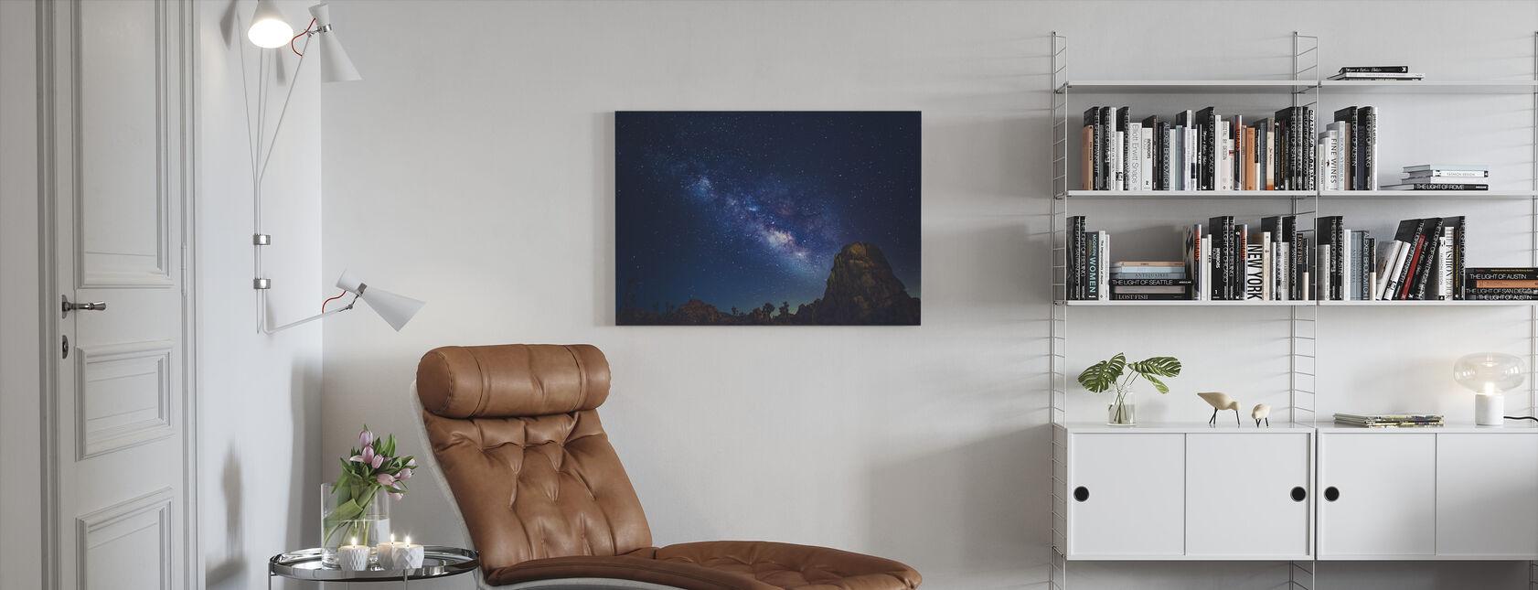 Stjerner van Joshua Tree, Californien - Lerretsbilde - Stue