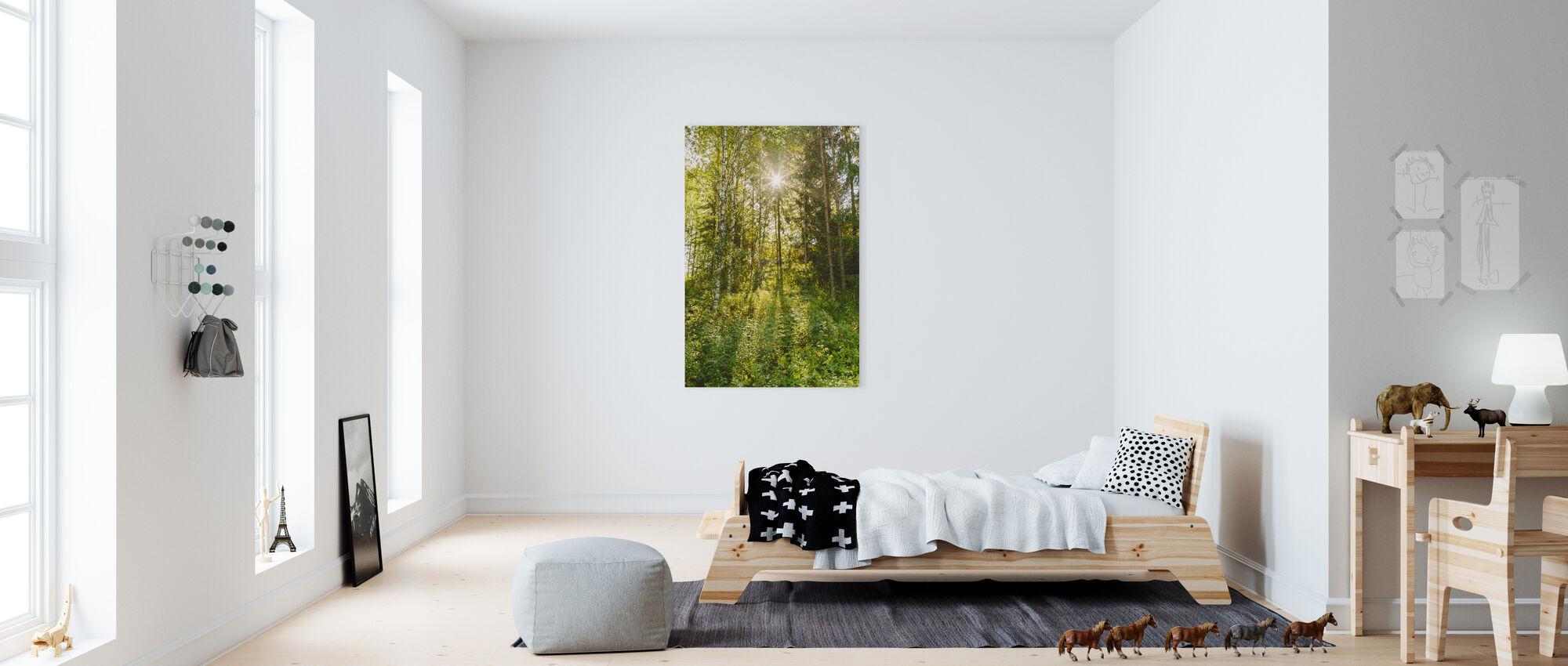 Solbelysta Lövträd, Finland - Canvastavla - Barnrum