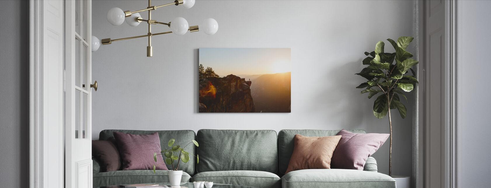 Taft Point, Nationaal Park Yosemite - Canvas print - Woonkamer