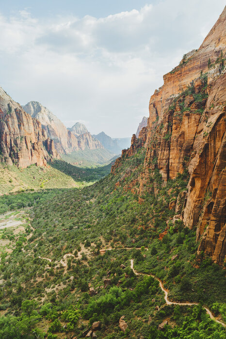 Valley In Zion National Park Usa High Quality Wall Murals