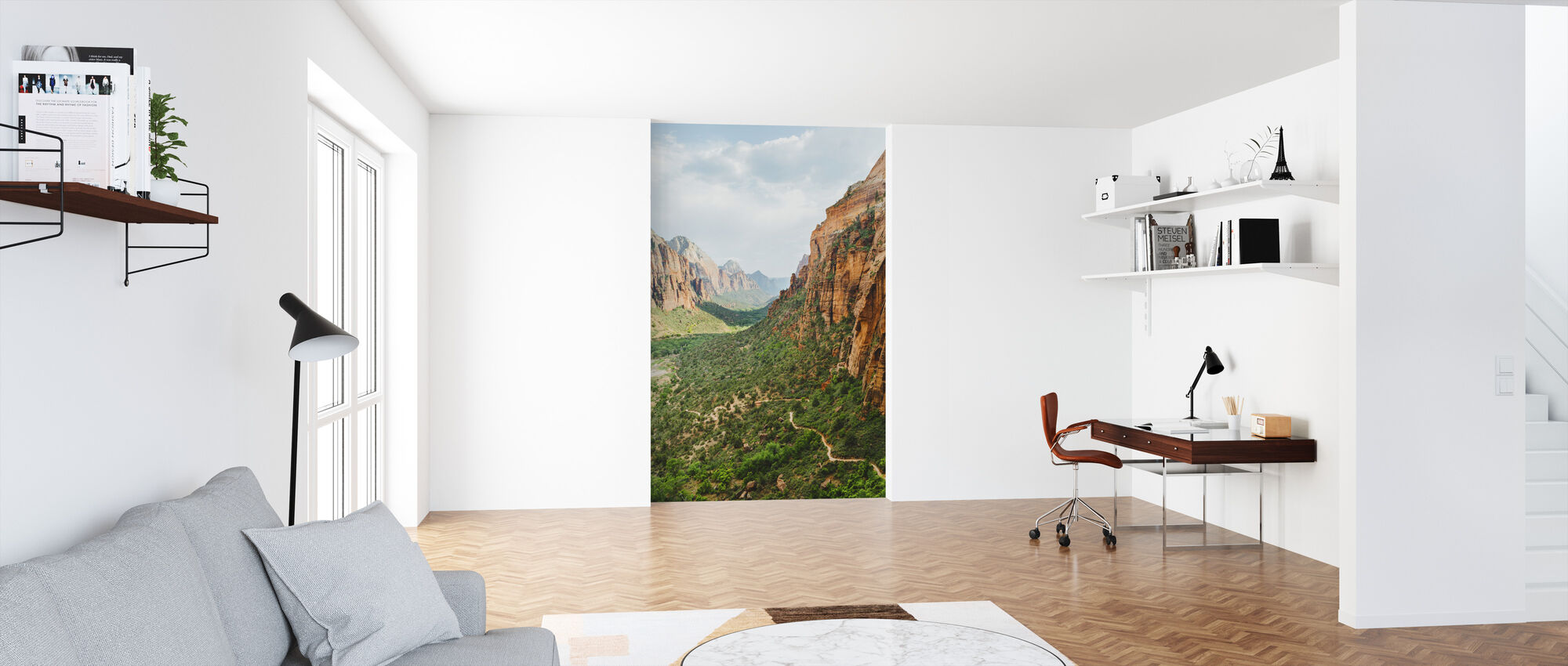 Valley in Zion National Park, USA - Wallpaper - Office