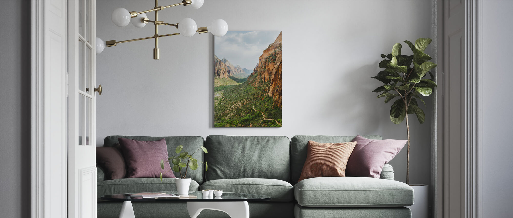 Valley in Zion National Park, USA - Canvas print - Living Room