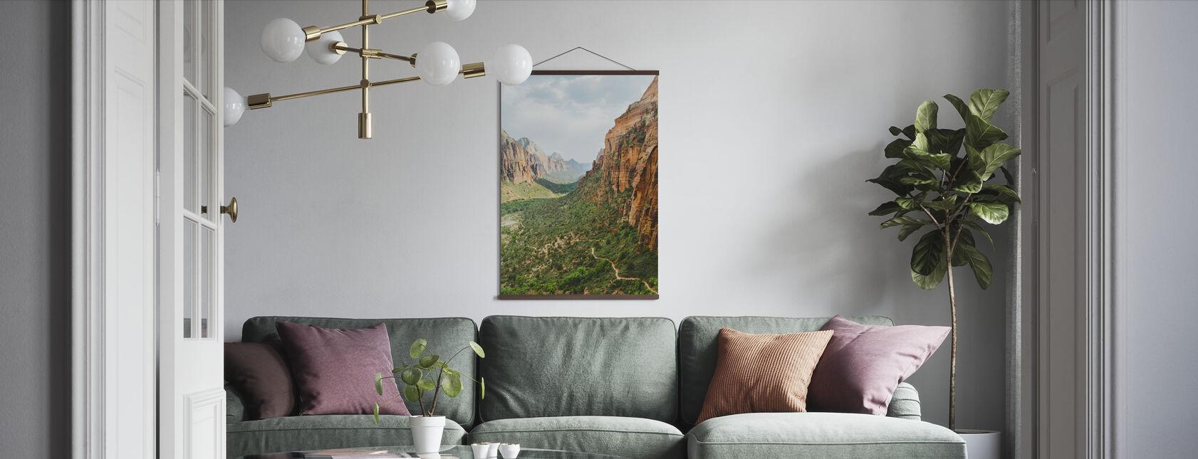 Dalen i Zion nasjonalpark, USA - Plakat - Stue